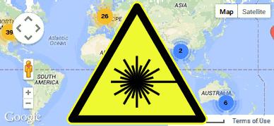 public laser cutter map